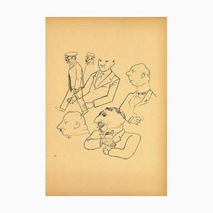 George Grosz, Men von Ecce Homo, Lithografie, 1923