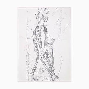 Alberto Giacometti, Annette Standing, Lithograph, 1961