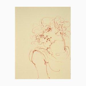 Leonor Fini, Face, Lithograph, 1970s