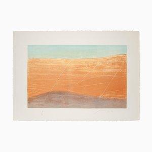 Piero Guccione, The Desert, Lithograph, 1980