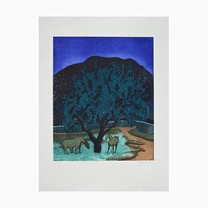 Ferdinand Oscar Finne, Enchanted Forest, Etching and Aquatint, 1997