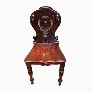 Mid-viktorianischer Mahagoni Hall Chair