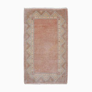Mottled Nepal Carpet in Pink with Border