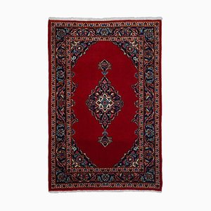 Floral Dark Red Carpet with Border and Medallion