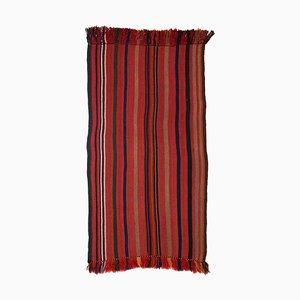 Kilim Dark Red Carpet with Stripes