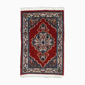 Floral Dark Red Carpet with Medallion and Border