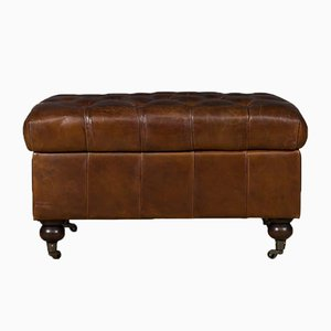 Brown Highgate Leather Ottoman