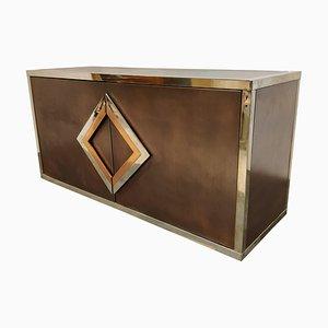 Messing und Kupfer Sideboard von Maison Jansen, 1970er