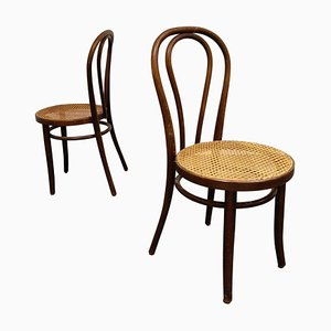 Sedie da pranzo antiche in legno piegato, anni '50, set di 2