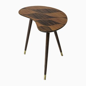 Swedish Mid-Century Side Table with Inlays
