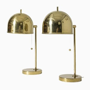 Brass Table Lamps from Bergboms, Set of 2