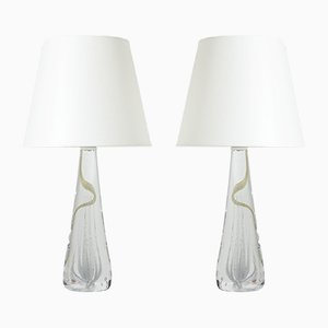 Glass Table Lamps by Vicke Lindstrand, Set of 2