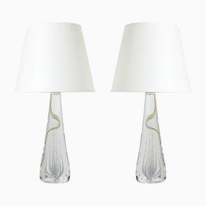 Lampade da tavolo in vetro di Vicke Lindstrand, set di 2