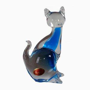 Blue Murano Glass Cat, 1960s