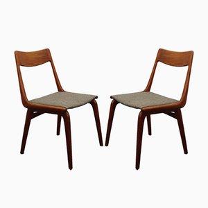 Teak Boomerang Esszimmerstühle von Alfred & Erik Christensen für Slagelse Møbelværk, 2er Set