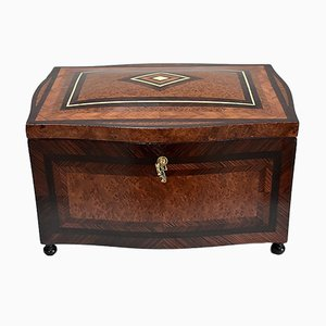 Small French Napoleon III Wooden Trunk