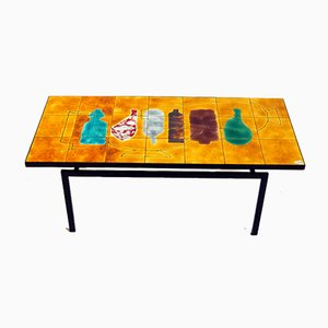 Ceramic Top Coffee Table, 1960s