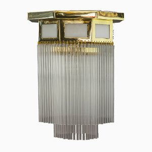 Österreichische Art Deco Deckenlampe, 1920er