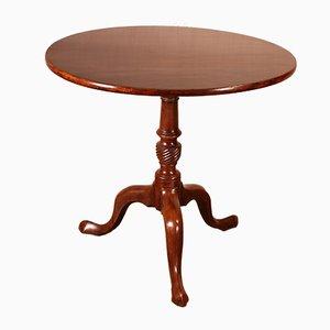 Antique English Mahogany Tripod Table, Early 1800s