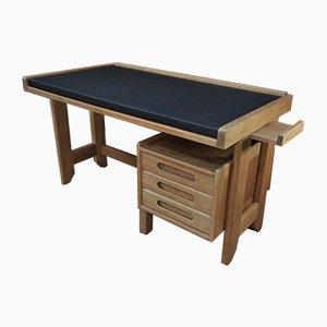 Oak Desk by Guillerme et Chambron for Votre Maison, 1950s