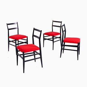 Leggera Esszimmerstühle von Gio Ponti für Cassina, 1952, 4er Set
