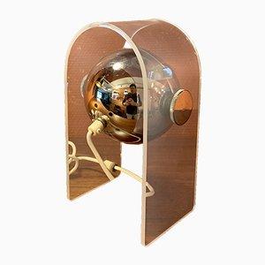 Space Age Tischlampe aus Plexiglas & Chrom, 1970er