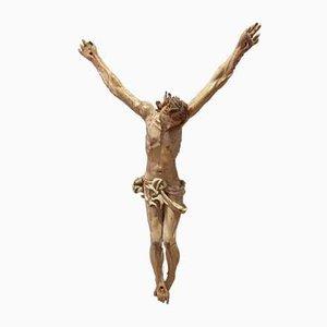 French Polychrome & Wood Christ Figurine