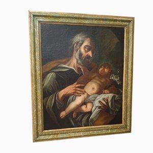 St. Joseph and Child, Huile sur Toile, 1650