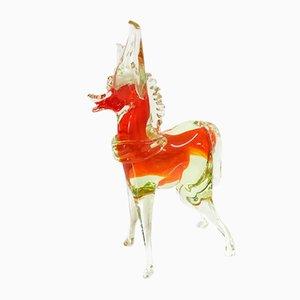 Vintage Murano Glass Decorative Horse, 1960s