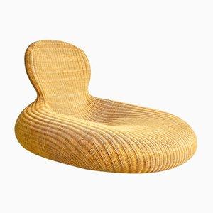 Chaise longue de mimbre de Carl Öjerstam para Ikea, década de 2000