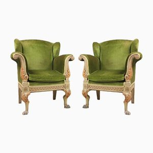 Italian Royal Armchairs, Set of 2