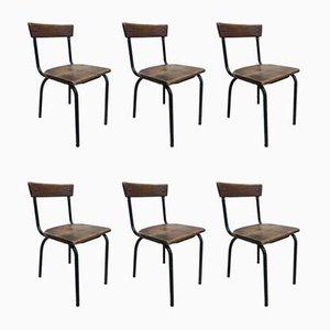 School Chairs, Set of 6