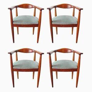 Portugiesische Beistellstühle im Hans Wegner Stil, 1960er, 4er Set