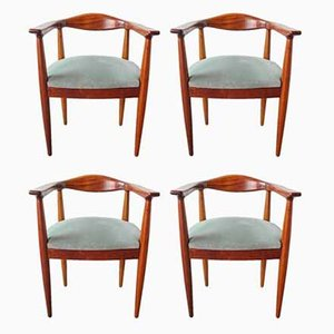 Portuguese Hans Wegner Style Side Chairs, 1960s, Set of 4