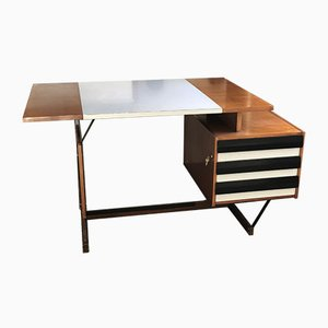 Mahogany Desk by Ico Parisi for MIM, 1950s