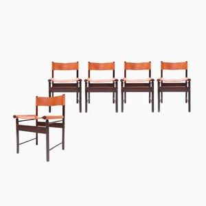 Sedie da pranzo di Jorge Zalszupin per L'Atelier, anni '50, set di 5