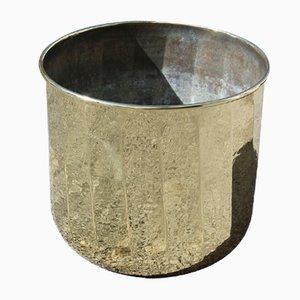 Italian Hammered Brass Vase Cover, 1970s