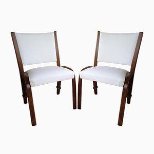 Bow Wood Dining Chairs by Wilhelm Von Bode for Steiner, 1950s, Set of 2