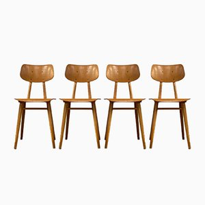 Mid-Century Dining Chairs from TON, Set of 4