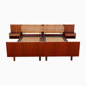 Tables de Chevet & Tables de Chevet Mid-Century en Teck par Hans J. Wegner pour Getama, Set de 4