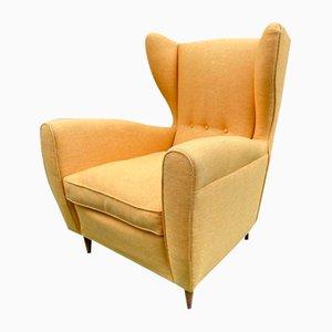 Mid-Century Italian Paolo Buffa Style Lounge Chair, 1950s