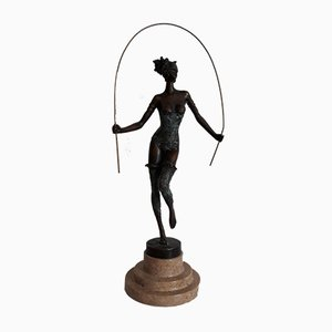 Springendes Mädchen aus Bronze von Milo für JB Deposee, Paris