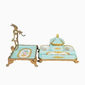 Calamai in porcellana, XIX secolo, set di 2