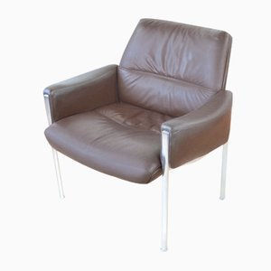 Mid-Century Leather Lounge Chair by Miller Borgsen for Roeder and Sons, 1960s