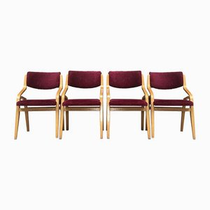 Esszimmerstühle von Ludvik Volak für Drevopodnik Holesov, 1970er, 4er Set