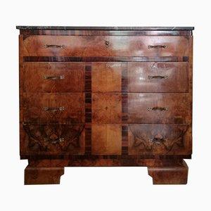 Tables de Chevet Style Art Déco avec Broussin et Miroir, Set de 3
