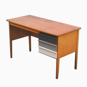 Escritorio de profesor vintage de madera, años 60