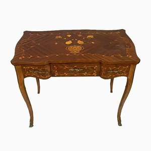 Louis VX Period Floral Wood Desk, 1930s