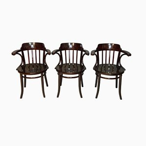No. 13 Dining Chairs by Michael Thonet for Gebrüder Thonet Vienna GmbH, 1920s, Set of 3