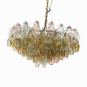 Polyhedron Glass Chandelier by Carlo Scarpa for Venini, 1958